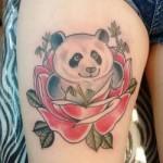 татуировка - милая панда