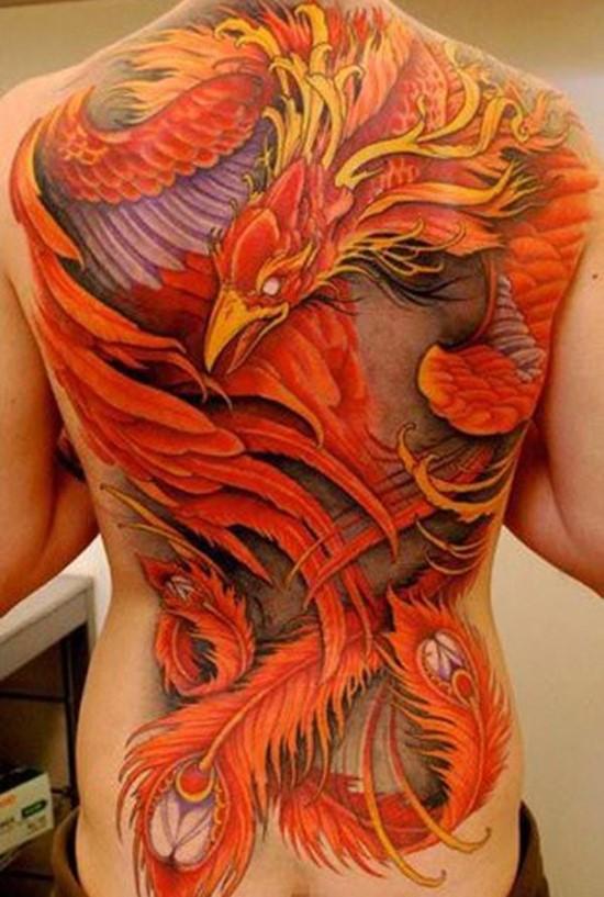 татуировка феникса во всю спину