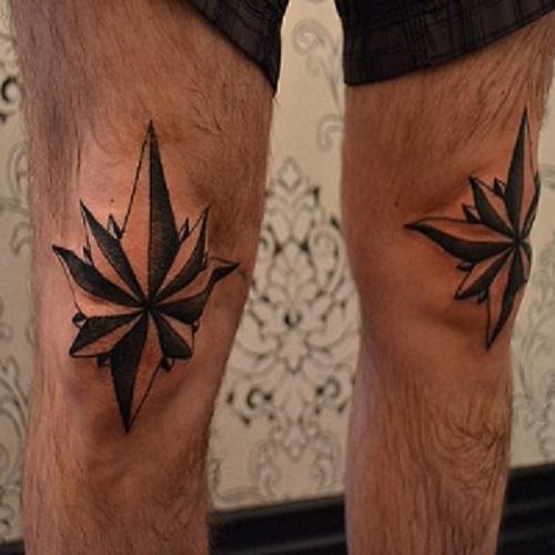 фото тату - звезды на коленях